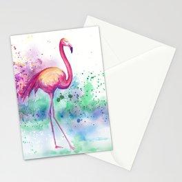 Messy Flamingo Stationery Cards