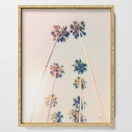 Vintage Pastel Palm trees Serving Tray