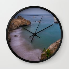 Dusk at Pirate's Cove Wall Clock