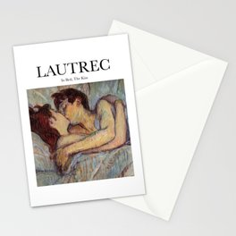 Lautrec - In Bed, The Kiss Stationery Cards