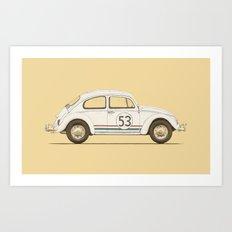 Famous Car #4 - VW Beetle Art Print