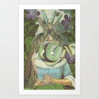 queen Art Prints featuring Queen  by Nicholas Lockyer