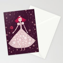 queen claret-pink Stationery Cards