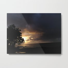Dusk in Hawaii Metal Print
