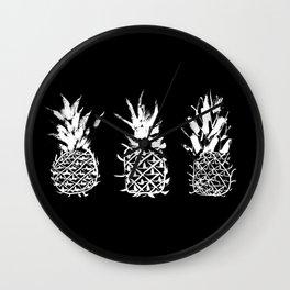Bold pineapples Wall Clock