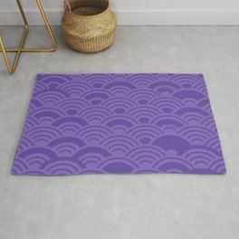Ultra Violet Color of the Year 2018 Seigaiha seigainami wave of the sea abstract scales Rug