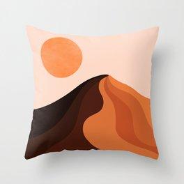 Abstraction_SUN_MOUNTAINS_Bohemian_Minimalism_002 Throw Pillow