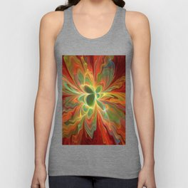 With a lot of Red, Abstract Art Unisex Tank Top