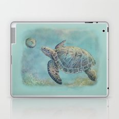 A Curious Friend (sea turtle variation) Laptop & iPad Skin
