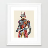 superheros Framed Art Prints featuring pop art antman  by bri.buckley