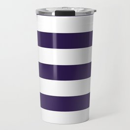 dark purple stripes Travel Mug