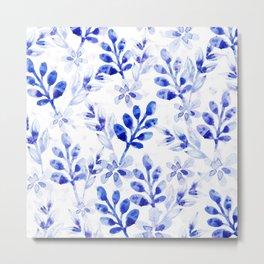 Watercolor Floral VVII Metal Print
