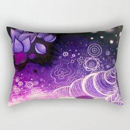 Purple Underwater Sea Rectangular Pillow