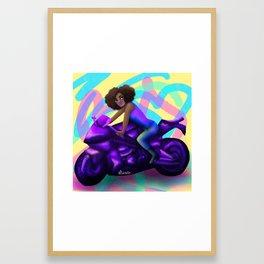 Biker Girl 2 Framed Art Print
