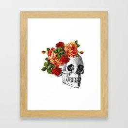 Dia De Los Muertos Sugar Skull Framed Art Print