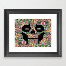 The Black smiles Framed Art Print