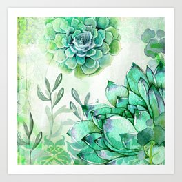 Irish Mint Garden Art Print