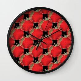 Red apple pattern Wall Clock