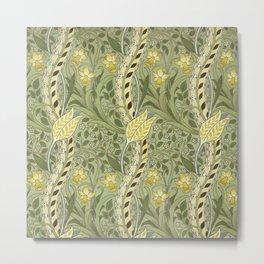 """William Morris """"Daffodil"""" Metal Print"""