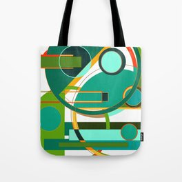 D is for Deco: Abstract Art Deco Font Typography Tote Bag