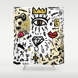 SLAVE ONLY DREAMS TO BE KING Shower Curtain