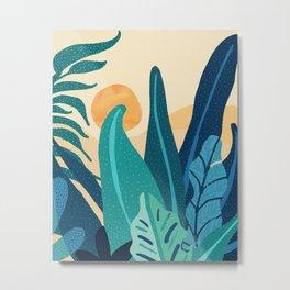 Afternoon Landscape  - Vertical Retro Palette Metal Print