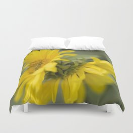 Siamese twin flowers Duvet Cover