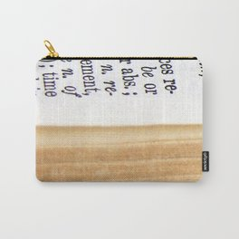 Vintage Dictionary Carry-All Pouch