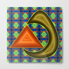 Absorbing triangle ... Metal Print