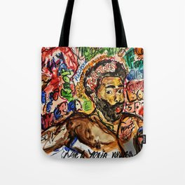 childish, this is america,colourful,colorful,poster,wall art,fan art,music,hiphop,rap,legend,shirt,p Tote Bag