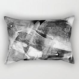 Block Print Textures Abstract Design Rectangular Pillow