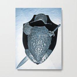 SHIELDS, HELMETS AND SWORDS 2 Metal Print