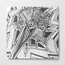 Line Work Metal Print