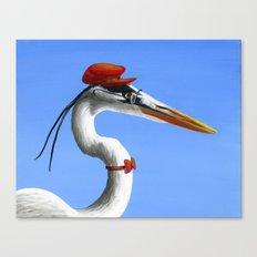 Original Animal Painting Bird ... Fancy Day Canvas Print