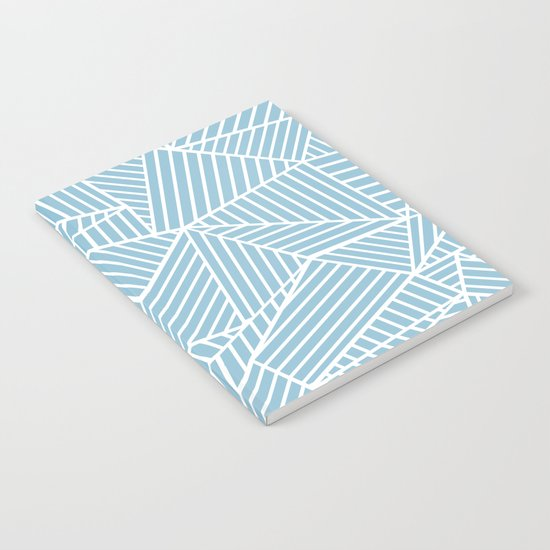 Ab Lines Sky Blue Notebook
