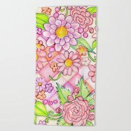 Pink Pomeranian Beach Towel