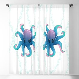 Octopus friend Blackout Curtain