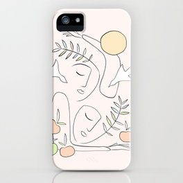 Together this Summer #lineart #minimal iPhone Case