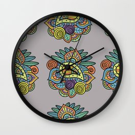 Indian style art Wall Clock
