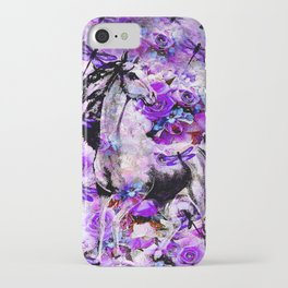HORSE ROSES DRAGONFLY IMPRESSIONS iPhone Case