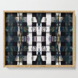 Colorful Tree Bark Weave Serving Tray