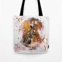 champagne Tote Bags featuring champagne by Nathalie56