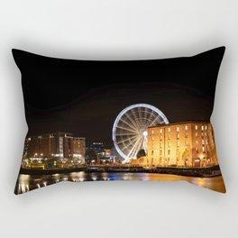 Liverpool Albert Dock Big Wheel Rectangular Pillow