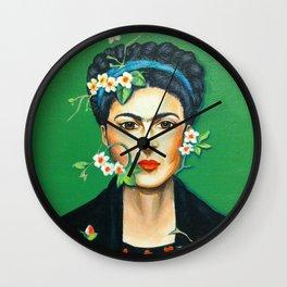 Alheli (Frida Kahlo) Wall Clock