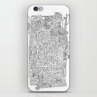 blueprint iPhone & iPod Skins featuring Home Blueprint by Max Bayarsky