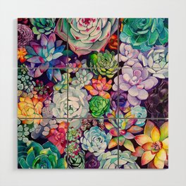 Succulent Garden Wood Wall Art