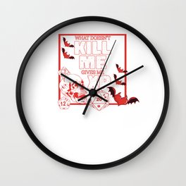 Funny RPG gamer Game Dice D20 Pen and Paper Boardgame Wall Clock