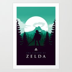 The Legend of Zelda - Green Version Art Print