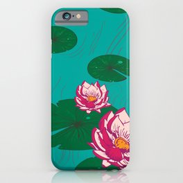 LuMa Water Lilies Large Print iPhone Case