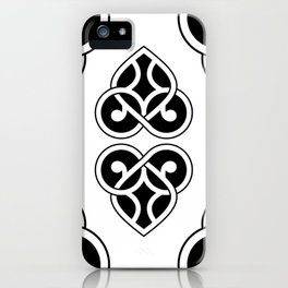 Celtic Heart Design - Black and White iPhone Case
